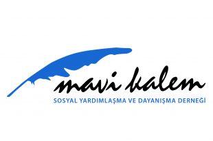 mavi kalem logo siyah